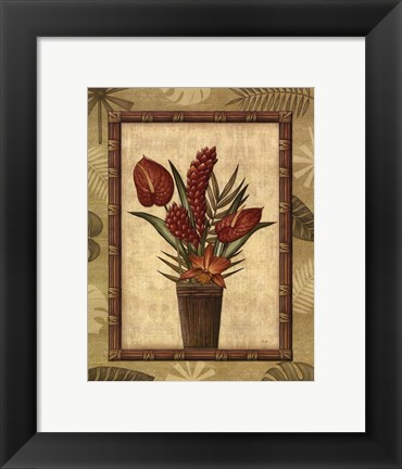 Framed Paradisio Bouquet I - Mini Print