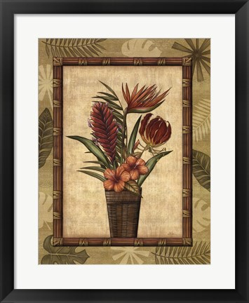 Framed Paradisio Bouquet II Print