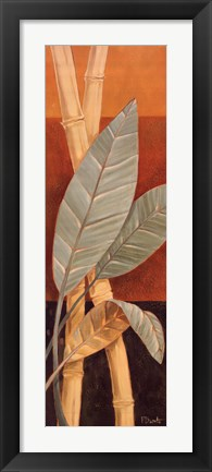 Framed Bali Leaves I Print