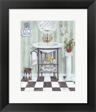 Framed Wash Basin - mini Print