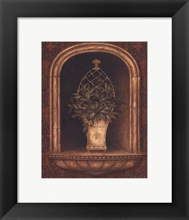 Framed Olive Topiary Niches II - petite Print