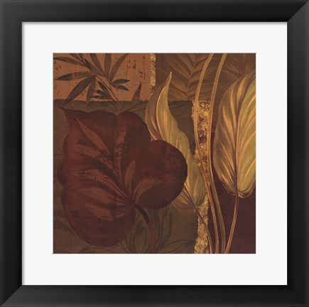Framed Tropical Foliage II - mini Print