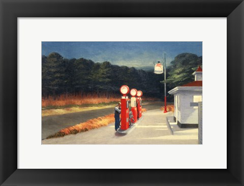 Framed Gas, 1940 Print