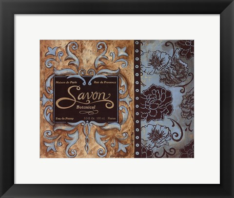 Framed Savon de Paris Print