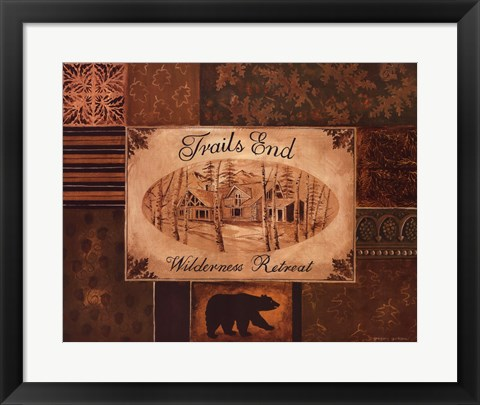 Framed Trails End Print