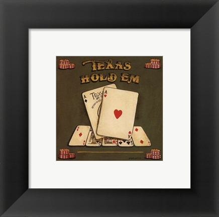 Framed Texas Hold Em - special Print