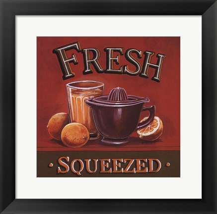 Framed Fresh Squeezed Print