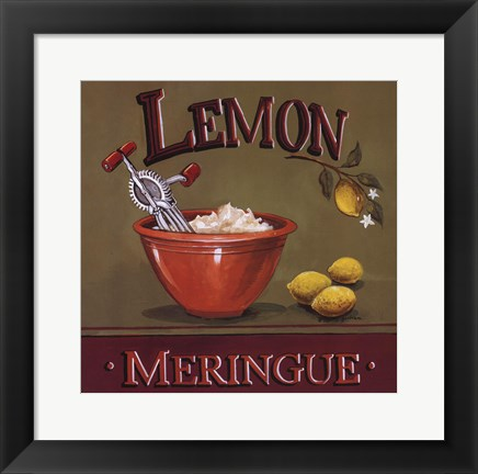 Framed Lemon Meringue Print