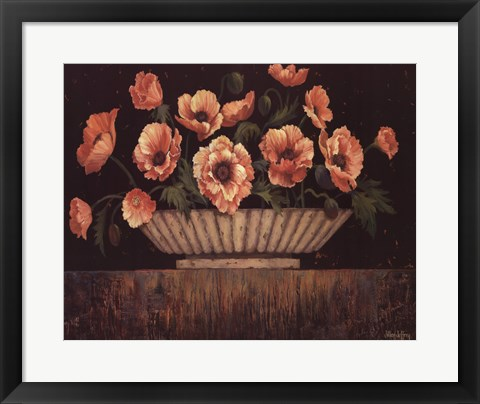 Framed Elegant Poppies - mini Print