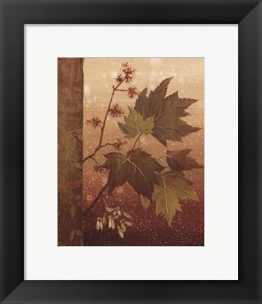 Framed Maple Leaves - mini Print