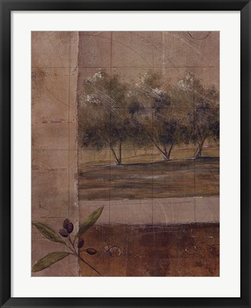 Framed Olive Groves I Print