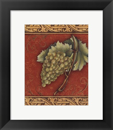 Framed Grape Tapestry II - mini Print