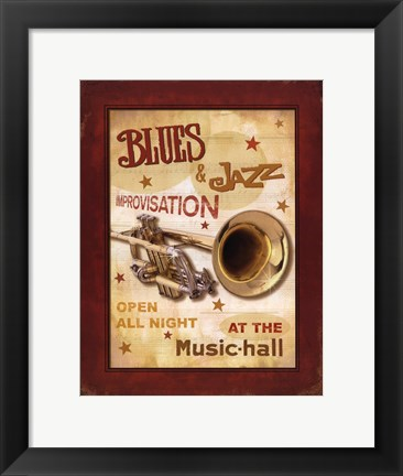 Framed New Orleans Jazz IV Print