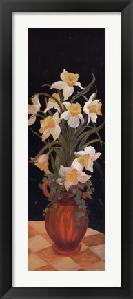 Framed Daffodils at Dark Print