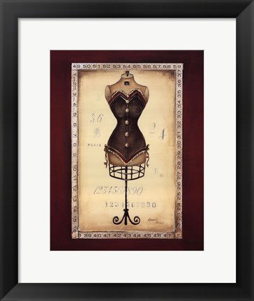 Framed Taille de Robe II - special Print