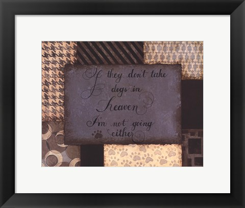 Framed Dogs in Heaven Print