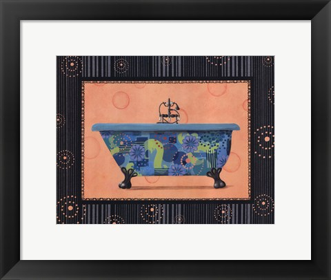 Framed Retro Tub II Print