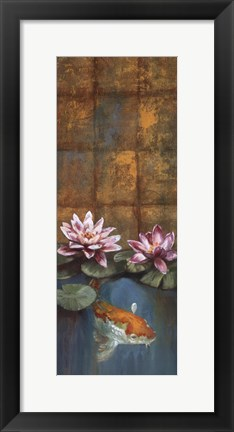 Framed Golden Koi I - mini Print