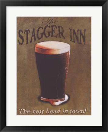 Framed Stagger Inn Print