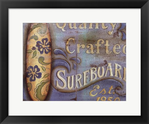 Framed Surfboard Print