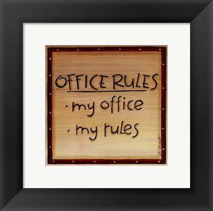 Framed Office Rules Print