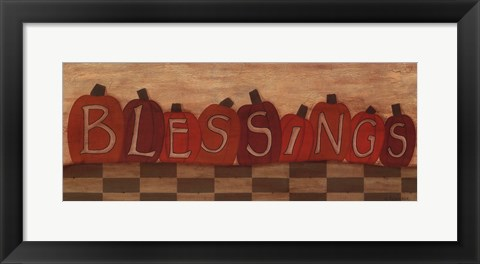 Framed Blessings Print