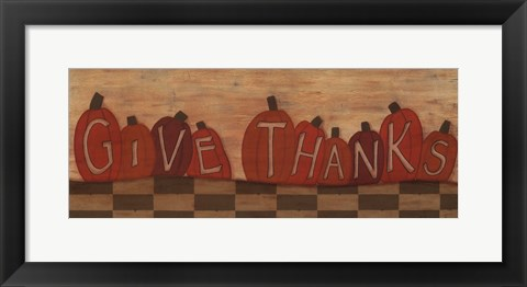 Framed Give Thanks. Print