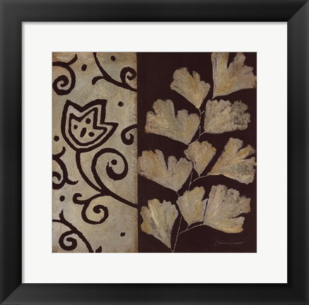 Framed Brown Leaf III Print