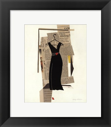 Framed Fashion Pages II Print