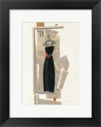 Framed Fashion Pages III Print
