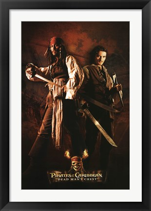 Framed Pirates of the Caribbean - Jack and Will Print