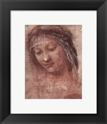 Framed Woman's Head, Study Print