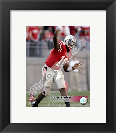 Framed Troy Smith Ohio State University 2006 Action Print