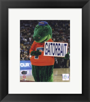 Framed University of Florida - Gators Mascot, Albert E Gator, 2006 Print