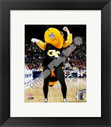 Framed Georgia Tech - Yellowjacket Mascot, 2003 Print