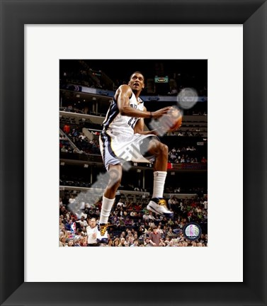 Framed Rudy Gay 2007-08 Action Print
