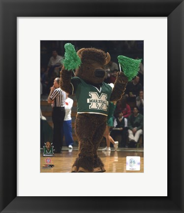 Framed Marco - Marshall University Thundering Herd Mascot Print