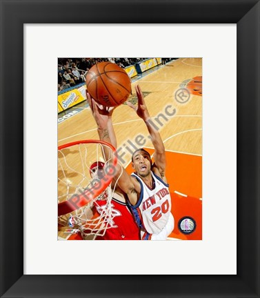 Framed Jared Jeffries 2007-08 Action Print