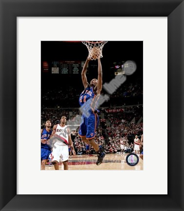 Framed Jamal Crawford 2007-08 Action Shot Print