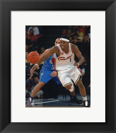 Framed Daniel Gibson 2007-08 Action Print