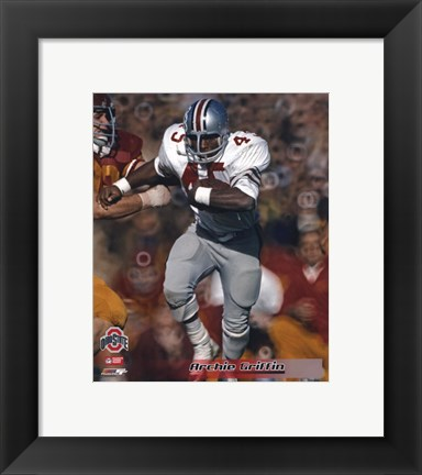 Framed Archie Griffin - 1973 Ohio State University Action (O S U) Print