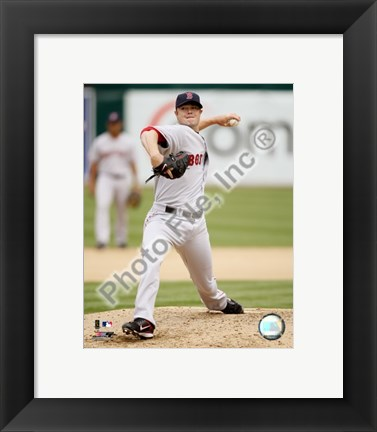 Framed Jon Lester 2008 Pitching Action Print