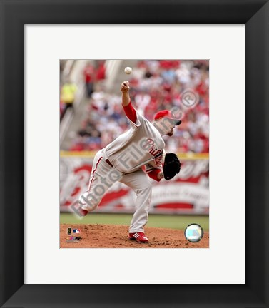 Framed Brett Myers 2008 Pitching Action Print