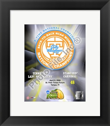 Framed Lady Volunteers, Tennessee - 2008 NCAA Final Four Women's Logo Photo Print
