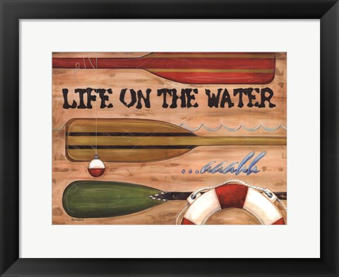 Framed Life on the Water Print