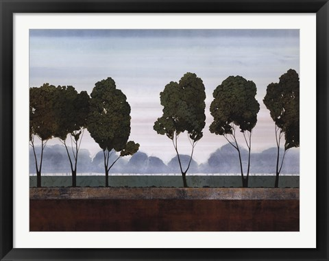 Framed Six Trees Print