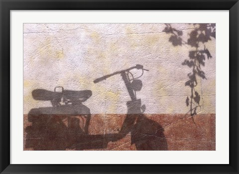 Framed Old Moterbike Shadow Print