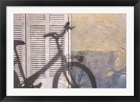 Framed Bicycle Arriving Print