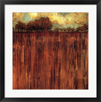 Framed Horizon Line with Trees I Print