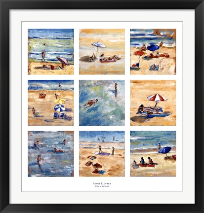 Framed Day at the Beach Print